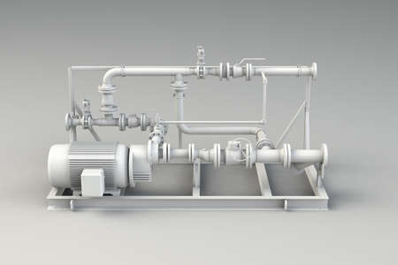 Clean piping isolated on white