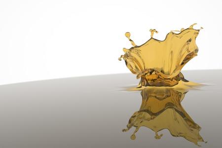 yelow: Splash of yelow liquid