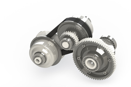 sprocket: Connected Gears isolated on white