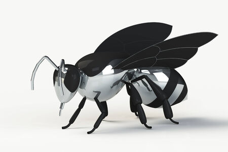 bumble: Shiny chrome bee