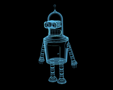 bender: Bender  3D xray blue transparent