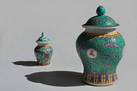 large and small Chinese artifact with details in shadows Stock fotó