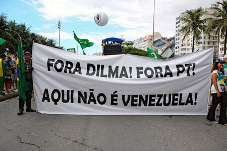 law of brazil: Manifestation in Brazil against the current government