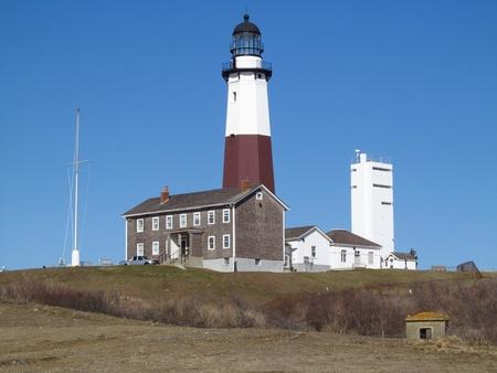 montauk: Lighthouse in Montauk New York Stock Photo