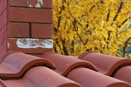 plating: roofing Stock Photo