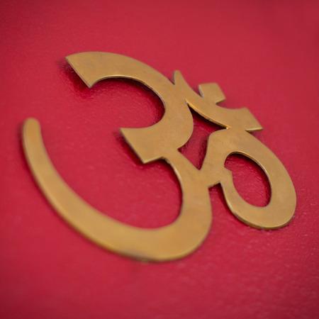 sanskrit: Close up shot of the symbol for om or aum