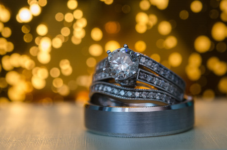 back lit: Back Lit Engagement And Wedding Rings
