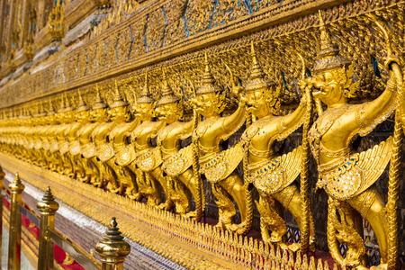 Garudas are character in Thai literature to decorate Wat Phra kaew Bangkok, Thailand. photo