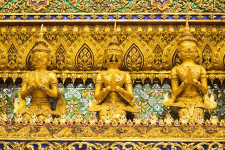 Garuda are character in Thai literature to decorate Wat Phra kaew Bangkok, Thailand. photo