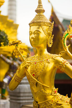 Mythical is charature form Thai literature to decorate at Wat Phra kaew inside grand palace Bangkok, Thailand. photo
