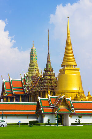 Wat Phra kaew are ancient remaims of Thailand. photo