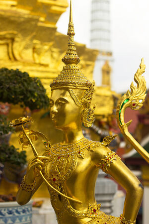 the grand palace: Mythical is character from Thai literature to decorate Wat Phra kaew inside grand palace Bangkok,Thailand.