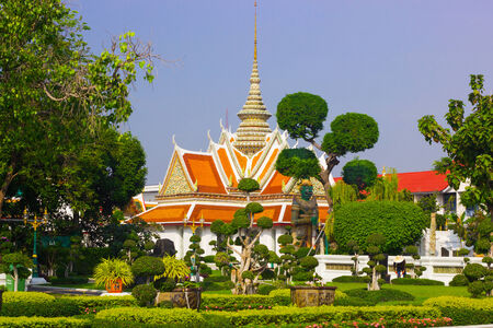 architecture ancient: Church Wat Arun are architecture ancient remains important of Thailand.
