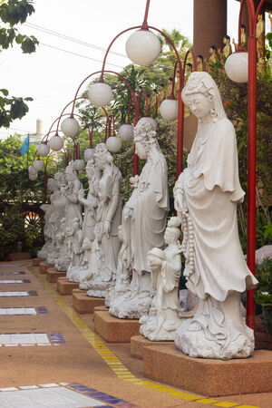 tabernacle: Buddha Guanim make from marble to decorate Chinese  Chruch in Thailand. Stock Photo