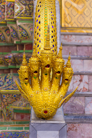 the grand palace: Stair are architecture railing of Wat Phra Kaew inside grand palace  Bangkok, Thailand. Stock Photo