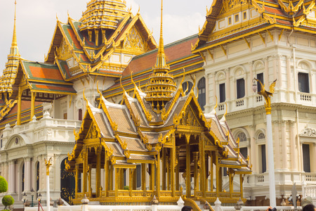 the grand palace: View Grand Palace while ancient remains important of Thailand.