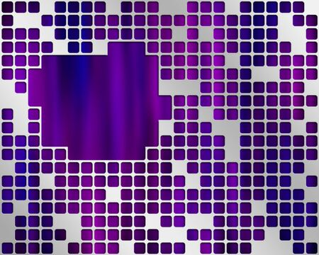 Abstract purple background with metal grid layer and place for text