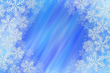 Illustration of frosty snowflakes over abstrack background