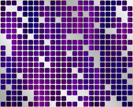 Abstract purple background with metal grid layer Stock Photo