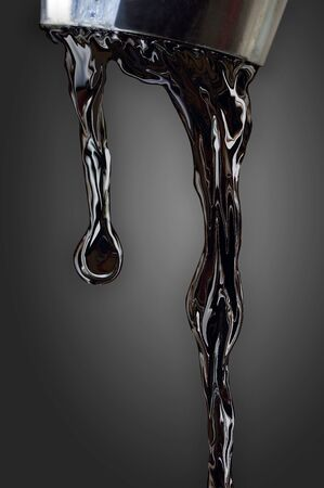 Oil dripping from faucet