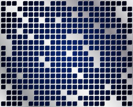 Metal grid vector with dark blue background