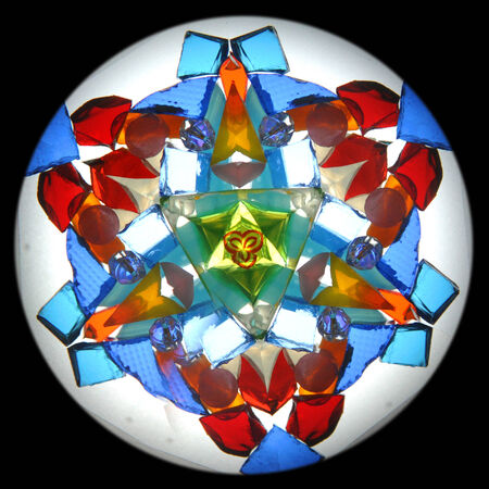 inner picture of standart kaleidoscope with 3 mirrors