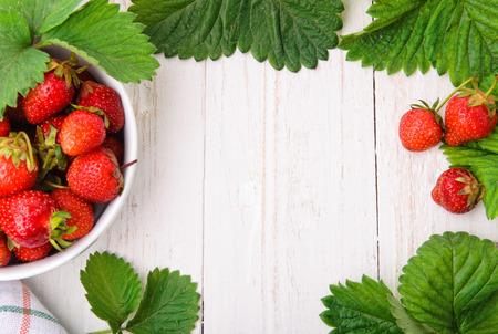 草莓。背景。
