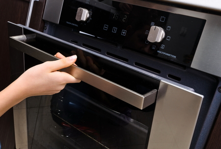 cooking implement: oven at home kitchen