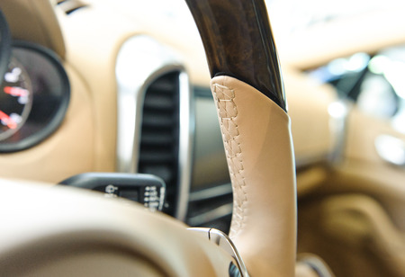 suede belt: car interior