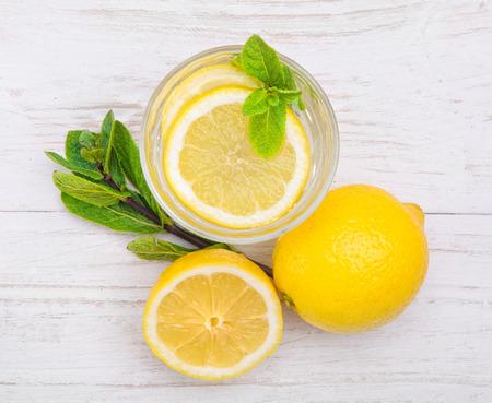 lemon drink Stock Photo