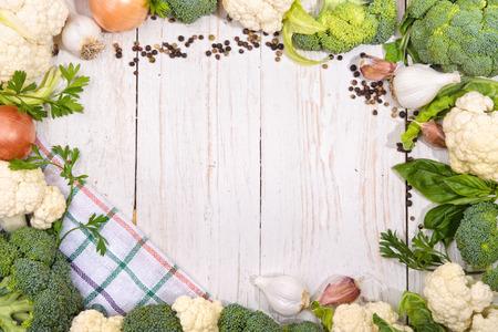 head of cauliflower: cauliflower and broccoli