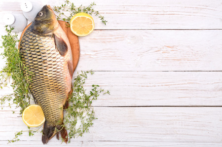 Fish. Cooking concept.Background.