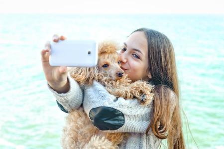美少女の彼女の写真を撮影