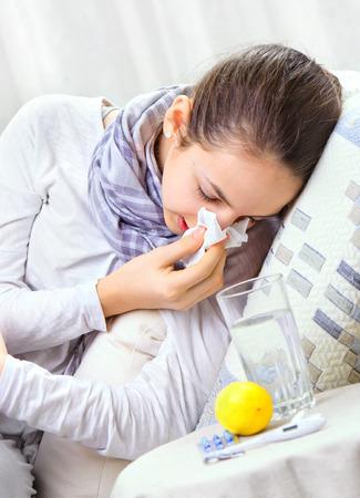 sniffles: Sick Woman.