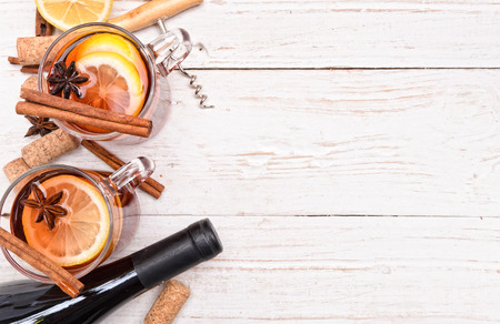 sweet table: Mulled wine. Background