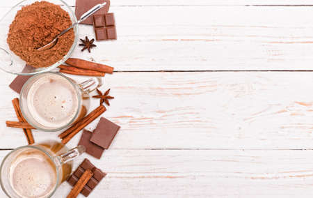 hot cocoa: Hot cocoa drink. Background.