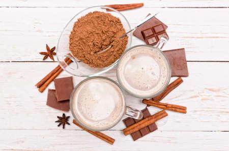 hot cocoa: Hot cocoa drink. Stock Photo