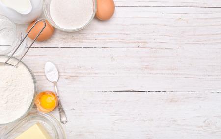 Baking Zutaten. Hintergrund. Standard-Bild - 47381943