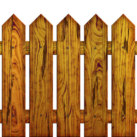 The fence on white background, The Illustration 3D. isolated object Stock Illustration - 3298981