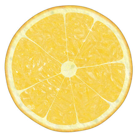 duplication: lemon texture on white,  suits for duplication of the background, illustration Stock Photo