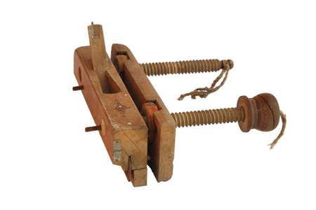 handiwork: antiguo instrumento de carpinter�a de madera, plano, plano suavizado, obra maestra. Rusia. Aislada