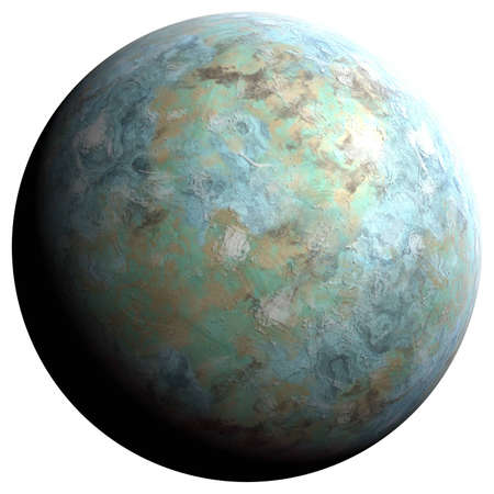 oceanic: The oceanic planet, 3D rendering, isolated, fantasy.