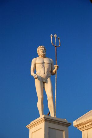 Neptun statue in Alania, Turkey photo