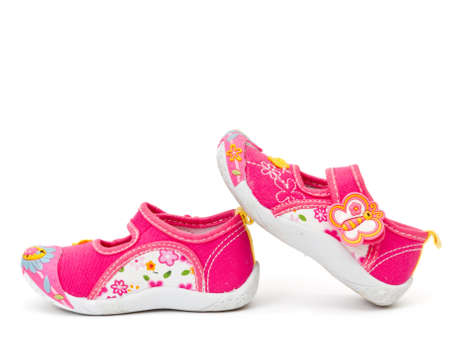 Kids shoes isolated on white photo