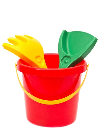 bucket toy, isolated photo