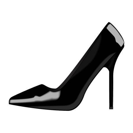 varnished: Woman varnished shoe.