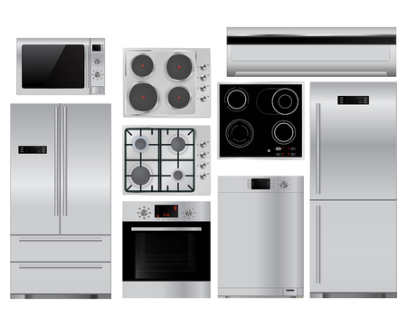 Home appliances. Vector illustration isolated on white background