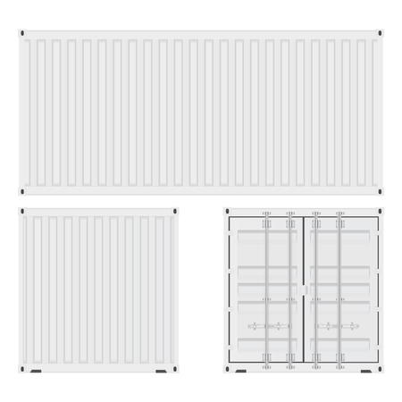 Shipping container. Vector illustration isolated on white background  イラスト・ベクター素材