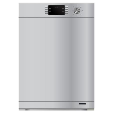 食器洗い機。白い背景で隔離のベクトル図  イラスト・ベクター素材