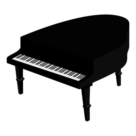 Grand piano. illustration isolé sur fond blanc